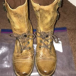 All saints bucked boots distressed